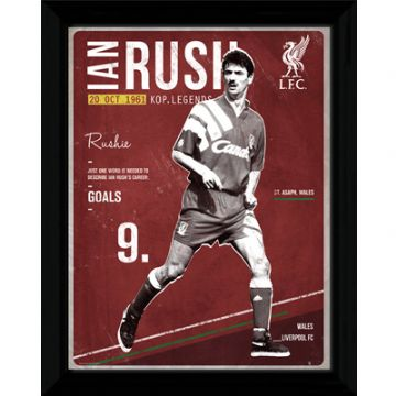 "Liverpool FC Retro Ian Rush Framed Picture 16"" x 12"""